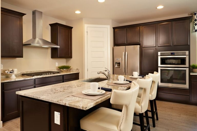 pulte homes phoenix az barletta model - kitchen island