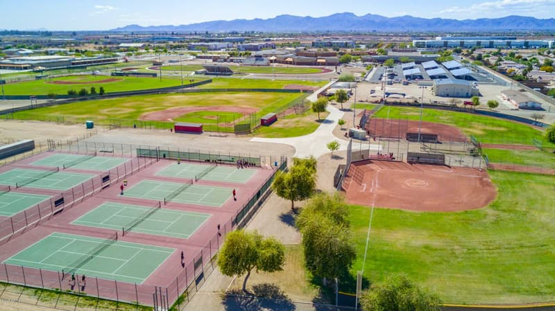 outdoor tennis baseball skateboarding and soccer in gentry park el mirage az
