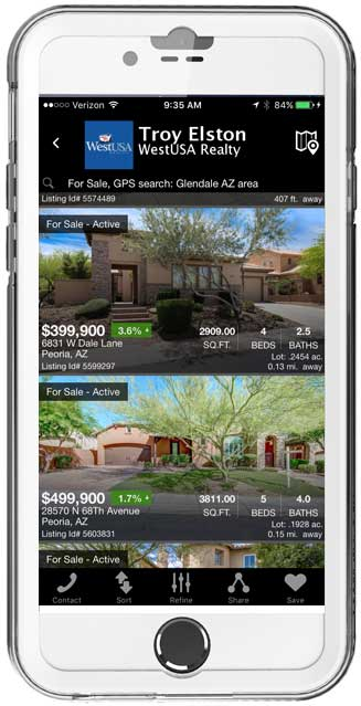 Home Search Page iPhone App