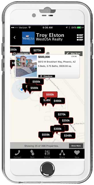 Home Search Mobile App Map Page