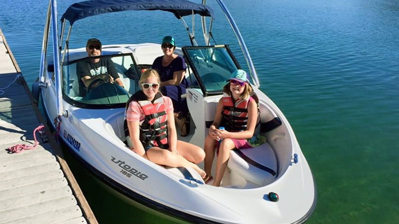 Spend a day boating, fishing, hiking, water sliding and more at Lake Pleasant in Peoria AZ