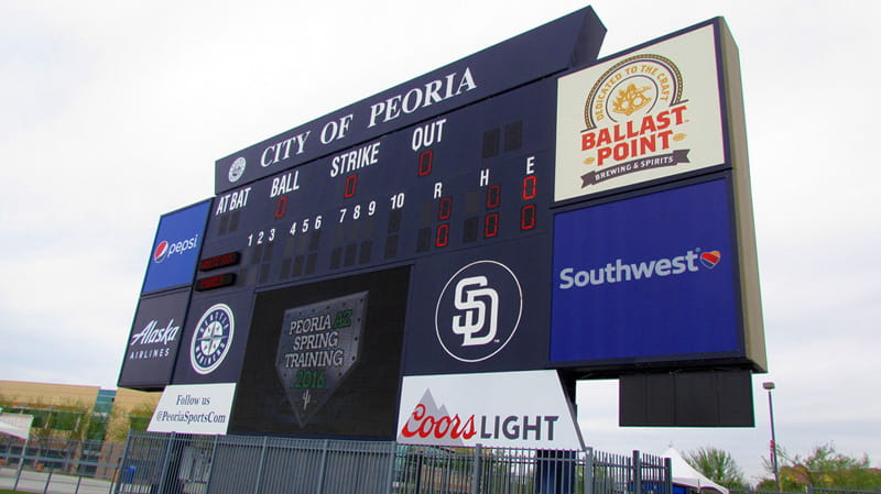 Enjoy watching your favorie Major League Baseball teams at Spring Training in Peoria AZ