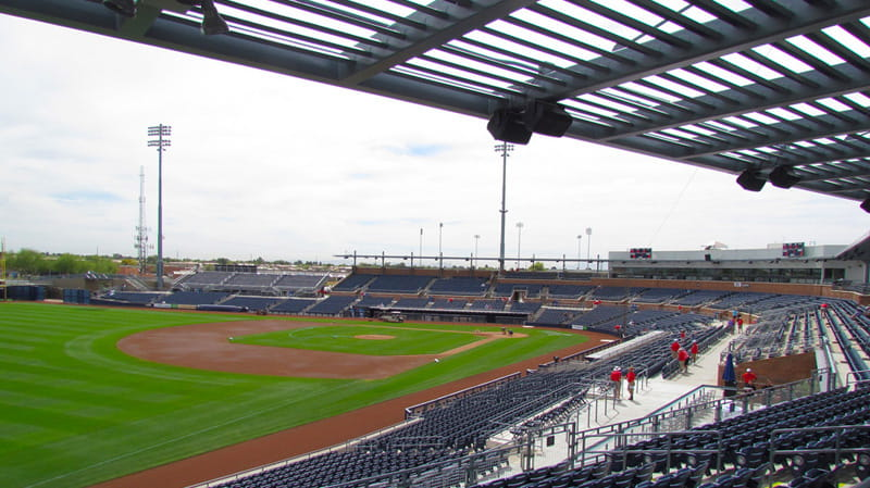 Spring traing for the Seattle Mariners and San Diego Padres - Peoria AZ