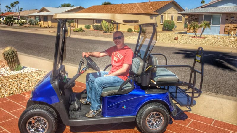 sun city az golf carts mode of transportation for sun city residents