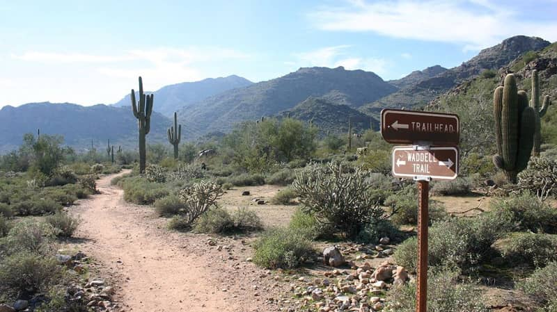 waddell az white tank mountain recreational park in phoneix az hiking trails
