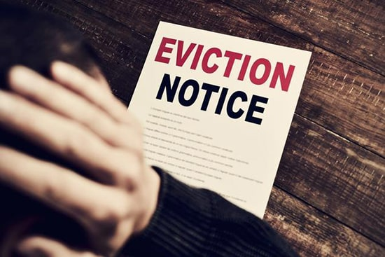 eviction notice renting until the market cools down
